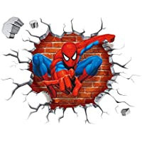 Clest F&H Spiderman Wall Stickers With Decor Decal Art Removable Vinyl Home Art Decor For Kids Nursery Bedroom 50cm*50cm by Clest F&H