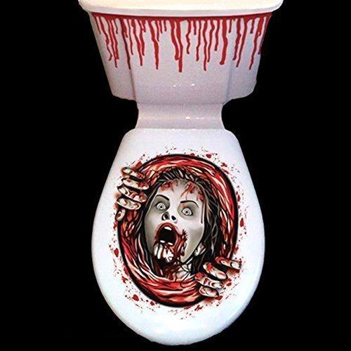 Halloween Toilette Aufkleber Gruselig Party Dekoration Blutspritzer Zombie Toilettensitz Greifer - 2 Stil