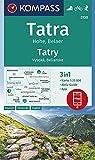 Tatra Hohe, Belaer, Tatry, Vysoké, Belianske: 3in1 Wanderkarte 1:25000 mit Aktiv Guide inklusive Karte zur offline Verwendung in der KOMPASS-App. ... Skitouren. (KOMPASS-Wanderkarten, Band 2130) -