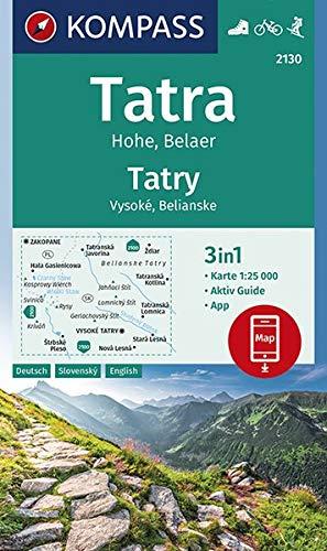 Tatra Hohe, Belaer, Tatry, Vysoké, Belianske: 3in1 Wanderkarte 1:25000 mit Aktiv Guide inklusive Karte zur offline Verwendung in der KOMPASS-App. ... Skitouren. (KOMPASS-Wanderkarten, Band 2130)