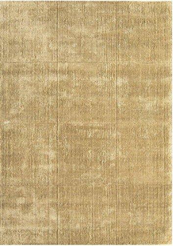 Teppich Wohnzimmer Carpet modernes Design Grosvenor Uni Rug 60% Wolle 40% Viskose 120x180 cm Rechteckig Gold   Teppiche günstig online kaufen - Gold-rechteckiger Teppich