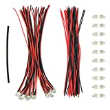 WOSKY 20 Sets Mini Micro Jst 2.0 Ph 2-Pin Connector Plug Male With 150mm Cable Female Connector Heat shrink tube for Li-Po Batteries