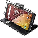 ebestStar - Coque Compatible avec Wiko View Prime Etui PU Cuir Housse Portefeuille Porte-Cartes Support Stand, Noir + Film Protection écran Verre Trempé [Appareil: 152.3 x 72.8 x 8.3mm, 5.7'']