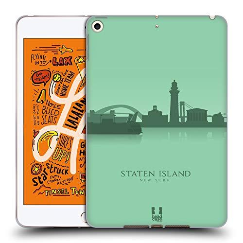 Head Case Designs Staten Island Landmarken Silhouettes 2 - Us Soft Gel Huelle kompatibel mit iPad Mini (2019)
