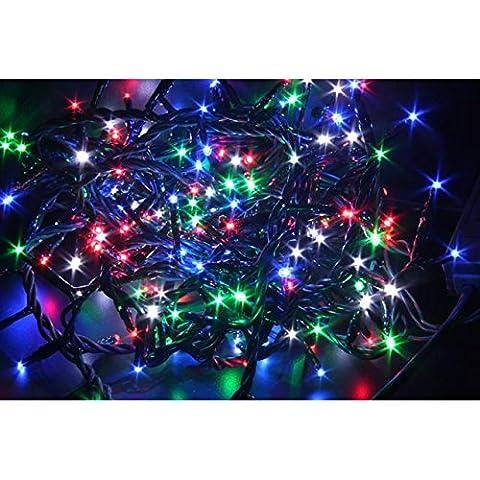 Decorazioni Albero Natale 96 Led Multicolor Con Giochi Luce 10725