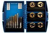 Laser 4026 - Juego de terrajas y machos de roscar (13 piezas)