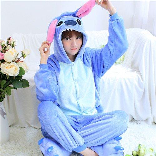 MH-RITA Aimal Paar Schlafanzug Flanell verliebte Paare Unisex Tier Schlafanzug Einteiler Cartoon Nachtwäsche, 21, (Für Paare Kostüme Mutterschaft)