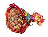 Chupa Chups Lutscher Blumenstrauss, 19 Lollis, 6 fruchtige Sorten, Geschenk-Idee: Geburtstag + Jahrestag + Valentinstag
