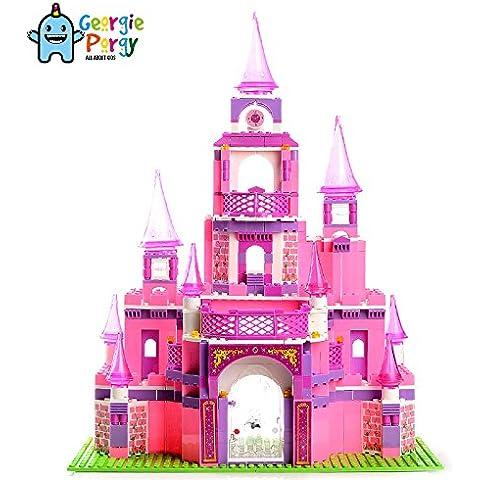 Georgie Porgy Creativo Ladrillos de construcción Juguetes para niños (Castillo)