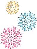 Blumen Schablone–wiederverwendbar Large Wandbild Floral Muster Wand Schablone–Vorlage, auf Papier Projekte Scrapbook Tagebuch Wände Böden Stoff Möbel Glas Holz etc. m