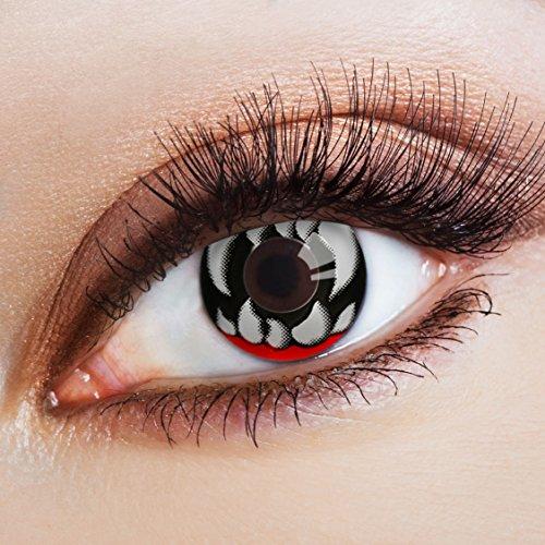chwarze Kontaktlinsen für Halloween Kostüm / Faschingskostüme (Paar Freunden Halloween Kostüme)