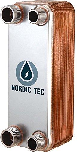Edelstahl Wärmetauscher Plattenwärmetauscher NORDIC TEC Ba-95-50, 1250kW, 50 platten, 2
