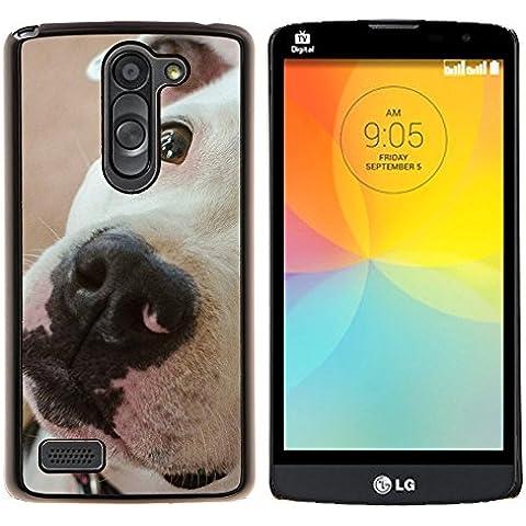 YiPhone /// Premium Slim Snap caso della copertura posteriore Armatura Shell - American Pit Bull Terrier razza del cane - LG L Prime D337 / L Bello D337