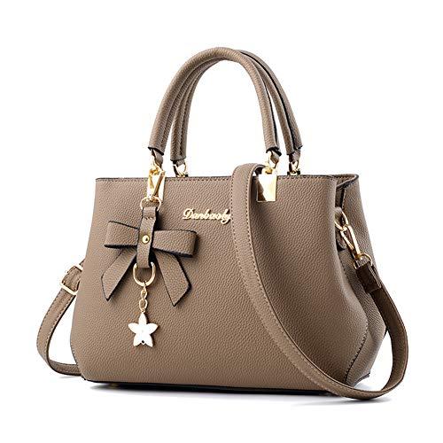 Wdmumu borse da donna borse a tracolla casual borse a spalla moda donna, tracolle a lunghezza regolabile,cachi