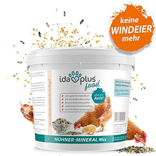 Ida Plus - Hühner-Mineral-Mix 5 Kg - einzigartige Futterkalk Mineralstoffmischung mit Anis - wertvollen Mineralien für bessere Eierschalenqualität - enthält Muschelkalk & Calcium - für Hühner & Küken