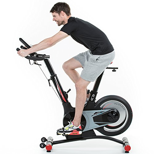 skandika SF-1860 Speed Bike Pro Fortuna, Indoor Cycle Bike mit Bluetooth, 24kg Schwungrad, 150kg Benutzergewicht, Transportrollen und Pulssensoren - 3