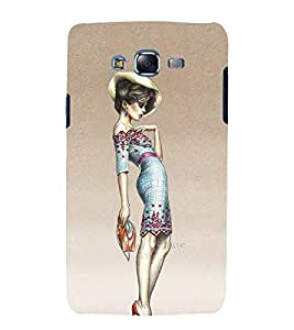 Fashion Girl 3D Hard Polycarbonate Designer Back Case Cover for Samsung Galaxy J7 (2015) :: Samsung Galaxy J7 J700F (Old Version)