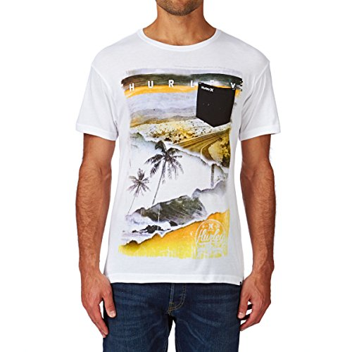 Herren T-Shirt Hurley Craving Pocket T-Shirt White