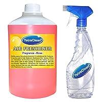 Tetraclean Multipurpose Rose Fragrance Air Freshener With Free Spray Bottle (1100ml)