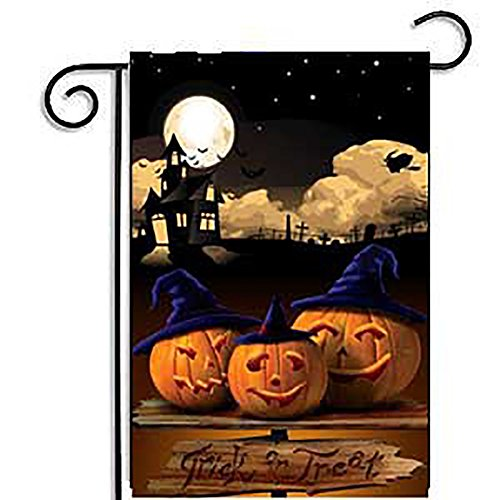Zantec 30 * 45CM Karikatur Kürbis Garten Flagge wetterfeste Halloween Partei Fahnen Ausgangsdekoration