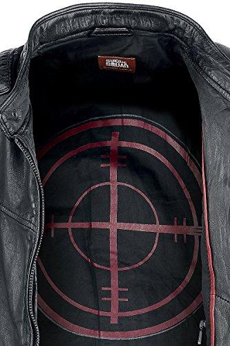 Suicide Squad Deadshot Leder-Jacke schwarz Schwarz