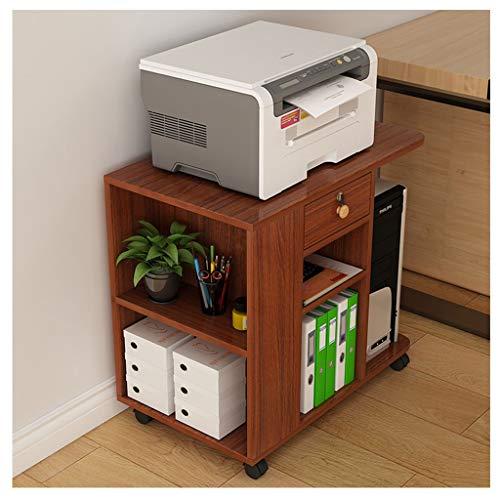 KSBRM Freistehende Mobile File Cabinets Cubes Stabile Einheit Display Magazin File Organizer Regale Einfache Montage Schlafzimmer Spielzimmer Wohnzimmer-Möbel (Color : Brown) -