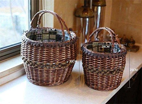 POPE Cestino di vimini cesto di frutta uovo cesto regalo