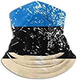 Estonia Vintage Flag Neck Gaiter Face Mask Headwear Balaclavas for Cycling Skiing