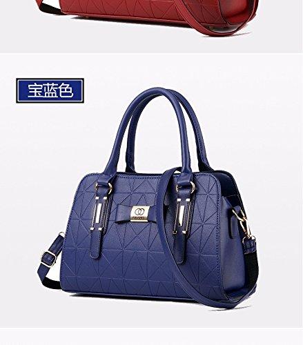 Xwan-single Bag New Simple All-match Bag. Blu Navy