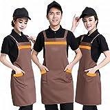 H - Typ B?nder Baumwollschürzen Catering Kellner Arbeitskleidung Schürze Stickerei Haus Küche Schürzen,EIN