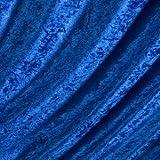 Pannesamt Stoff Meterware Royal-Blau
