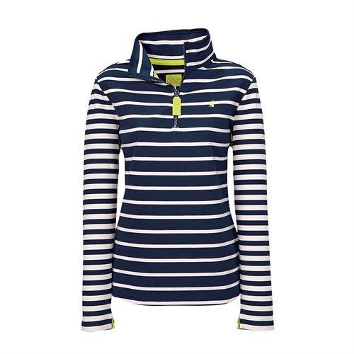 Joules Womens Fairdale Sweatshirt (V) AW16, French Navy Stripe UK18