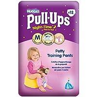 Huggies Pull-Up Di Notte Pantaloni Di Formazione Vasino Per Le Ragazze Formato 5 Di Media 12-18Kg