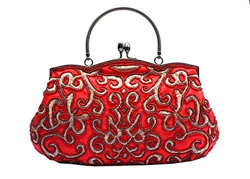 1 Beutelhandtasche Brautbeutel Handtaschen LAIDAYE Handbeutel Abendessenbeutel Brautjunfer 4f8wYvq
