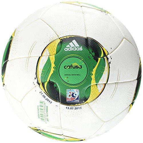 adidas Fußball FIFA Confed Cup Original Matchball, White/Vivid Yellow, 5, Z19458 (Adidas-argentinien-weltmeisterschaft)