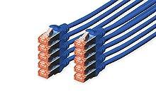 Digitus Professional Cavo di Rete 3 m Cat6 S/FTP (S-STP) Blu