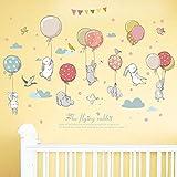 Trada Bunter Ballon Wandaufkleber, DIY Cute Cartoon Hintergrund Wanddekoration Wandaufkleber Personalisiert Wandtattoo für Schlafzimmer Kinderzimmer Wandaufkleber (Mehrfarbig)