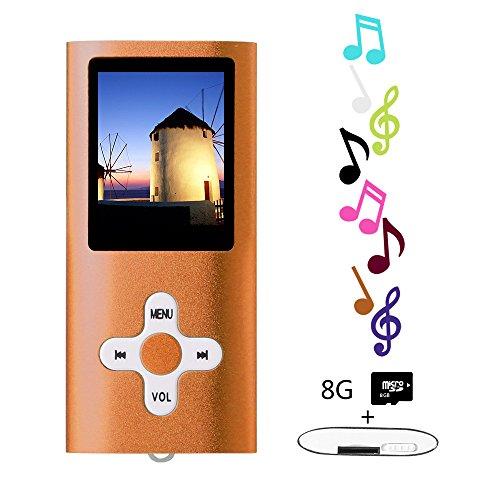 Btopllc MP3 / MP4 Player MP3 8GB Card Reader Hi-Fi Music Player Portable 1.7 inch LCD MP3 / MP4 Player Media Player with Mini USB Port USB Cable / MP3 Music Player Voice Recorder Media Player - Orange