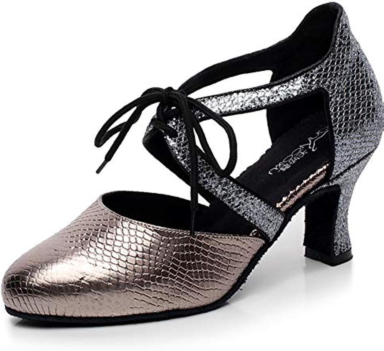 XIAOY Ballroom Latin Latin Latin Donna Scarpe da Ballo Latino Pelle PU Tacco Alto 7CM Lace Up | comfort  | Uomo/Donna Scarpa  998d03