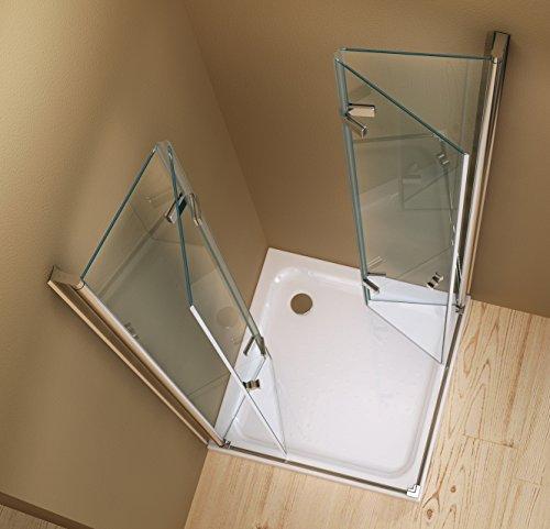 Entrata di curva box doccia doccia caroline 90 x 90 x 195 cm 8mm senza un piatto doccia - Doccia senza piatto doccia ...