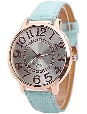 Sanwood Damen Armbanduhr Uhr Big Ziffern Gehäuse Watch