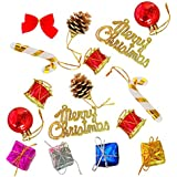 Decorative Buckets:christmas Decorations :ASSORTED CHRISTMAS TREE DECORATIONS|PACK OF 37 |MIX CHRISTMAS DECORATIONS |chistmas Gifts Christmas Balls, Pinecone,candy Stick, Christmas Bells Drums Banner : CHRISTMAS TREE DECORATIONS | MIX Ornaments | Christma