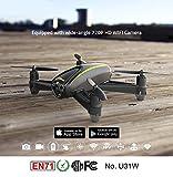 Fytoo U31W Drone mit HD Kamera (1280 x 720P) Wifi FPV Quadcopter mit Altitude Hold Headless Mode für Anfänger
