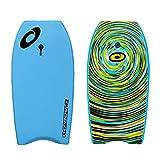 Osprey Body Board mit Leine, Slick Boogie Board, mit sichelförmigem Schwanz,...