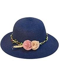 EUCoo Cappello da Spiaggia da Donne Benda Arco Decorazione Ombra Cappello  di Paglia E Cappellino in fea4e738fc21