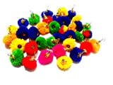 #8: Pom pom multicolor tassels for making earrings/jewellery/caps/dress borders/arts/crafts/decorations