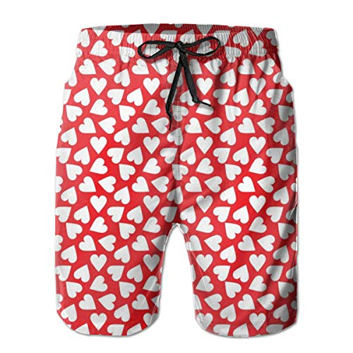 en Valentines Day_1333 Herren Boardshorts Badehose Surf Beach Holiday Party Badeshorts Strandhose M ()