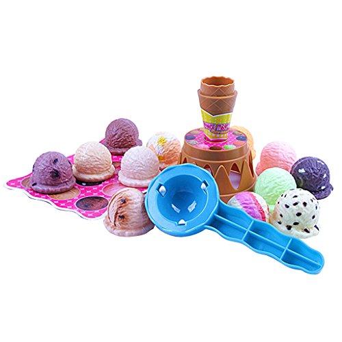 Unterschiedliche Geschmack Eis Kuchen Schokolade Kegel Schaufel Kinder Spielen Spielzeug-Set Geschenk
