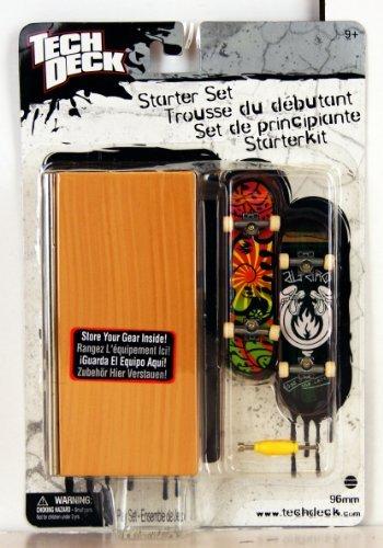 tech-deck-25752-96-mm-fingerboard-starter-set-set-de-principiante-black-label-con-2-fingerboards-cas