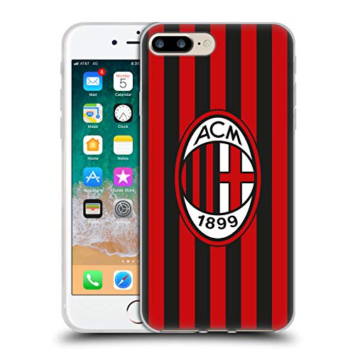 Head Case Designs Ufficiale AC Milan in Casa 2018/19 Kit Crest Cover Morbida in Gel per iPhone 7 Plus/iPhone 8 Plus